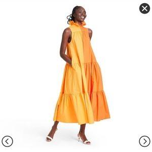 Christopher John Rogers Sleeveless Two Tone Dress